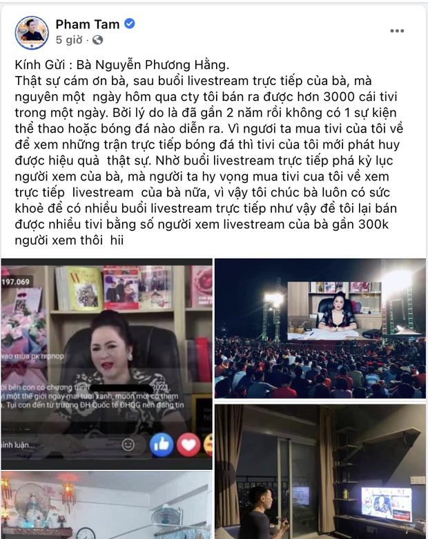 Chủ tịch tập đoàn điện máy: Cảm ơn Phương Hằng, bà livestream xong 1 ngày tôi bán được 3000 cái tivi - Ảnh 2.
