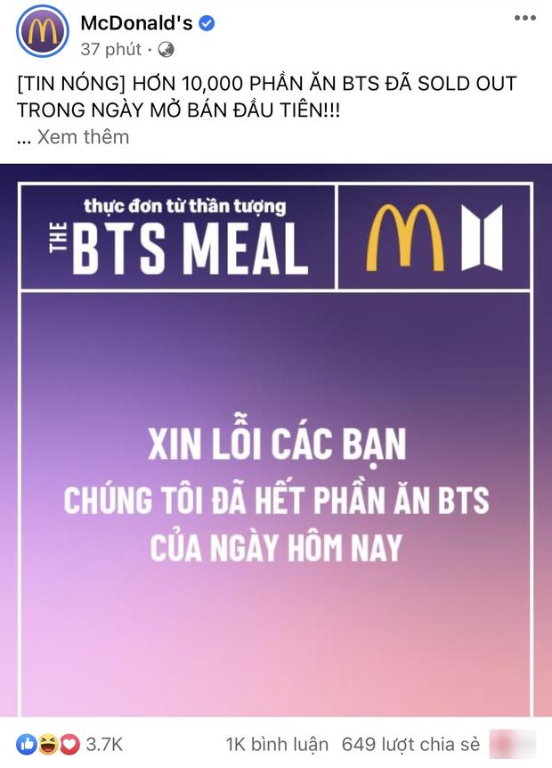 HOT: Hơn 10.000 phần ăn BTS đã hết sạch trong ngày đầu mở bán tại Việt Nam, lần đầu tiên mua gà rán mà cũng phải giành giật như vé concert! - Ảnh 3.