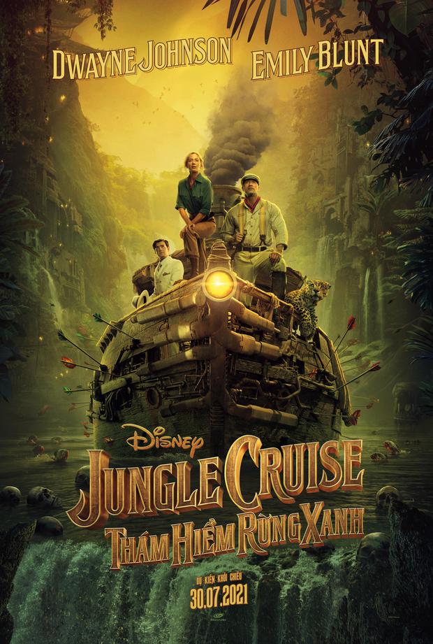 Dwayne The Rock Johnson bị Emily Blunt đấm vỡ mũi trong trailer phim hành động Jungle Cruise - Ảnh 3.