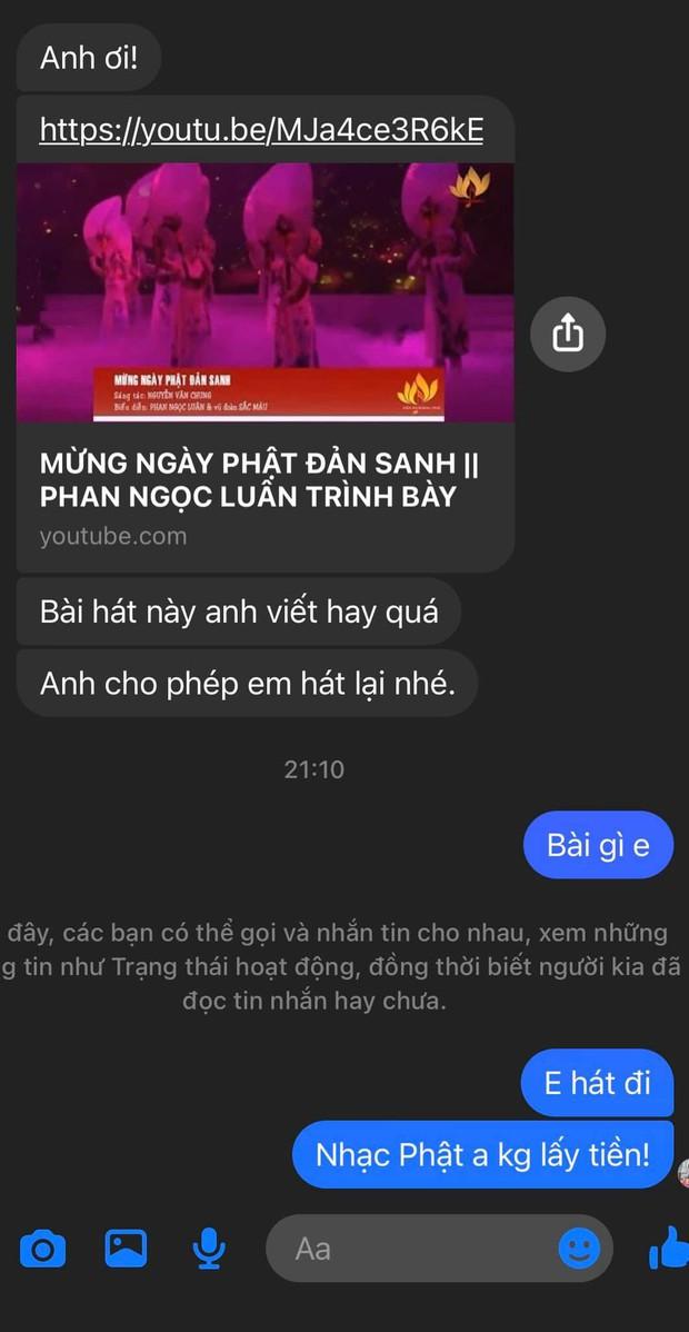 Giữa lúc Cao Thái Sơn trách bị gài bẫy, Nguyễn Văn Chung tung tin nhắn cho ca sĩ hát free và thổ lộ tâm trạng nặng nề - Ảnh 4.