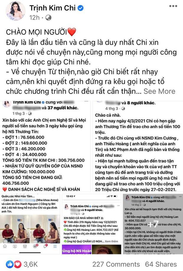 Bị tố dàn dựng bệnh tình của NS Thương Tín để kêu gọi tiền từ thiện, NS Trịnh Kim Chi lên tiếng: Đừng tàn nhẫn với chúng tôi như vậy! - Ảnh 2.
