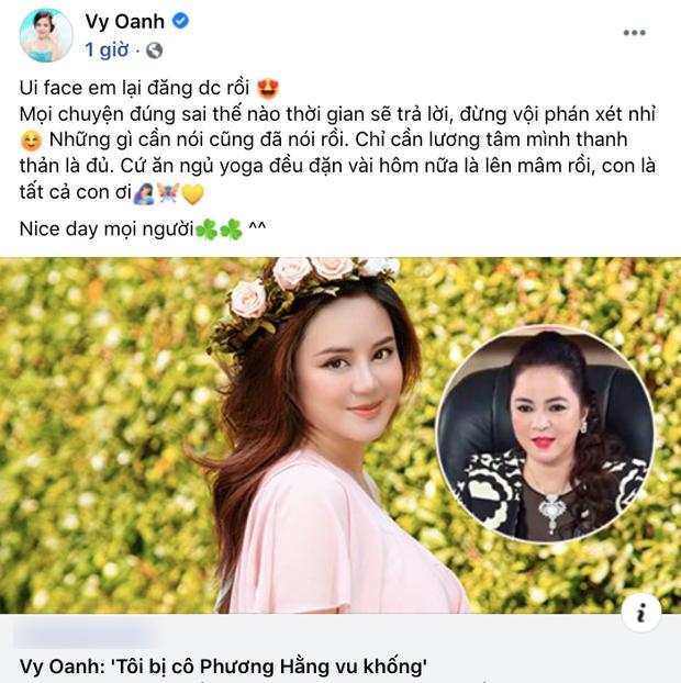 Vy Oanh đăng status khẳng định bị vu khống, tiết lộ việc cần làm lúc này giữa drama với bà Phương Hằng - Ảnh 2.