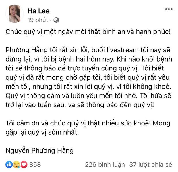 """Đến ngày Vy Oanh hẹn đối chất vụ làm vợ bé và """"đẻ thuê"""", bà Phương Hằng lại thông báo... không livestream, lý do có hợp lý? - Ảnh 2."""