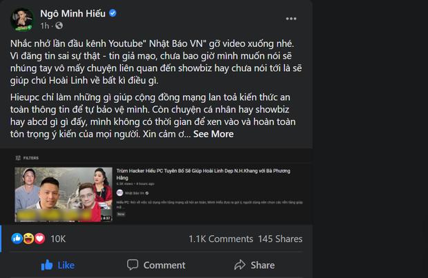 Bị một kênh YouTube đưa sai sự thật, Hieupc đăng đàn nhắc nhở quyết liệt - Ảnh 2.