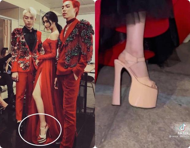 Hòa Minzy hé lộ đôi giày cao kỷ lục giúp ăn gian chiều cao, được dùng nhiều đến mức sờn cả da - Ảnh 6.