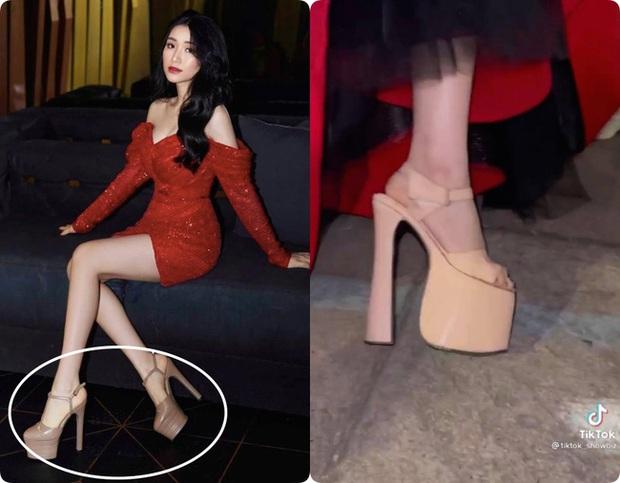 Hòa Minzy hé lộ đôi giày cao kỷ lục giúp ăn gian chiều cao, được dùng nhiều đến mức sờn cả da - Ảnh 8.