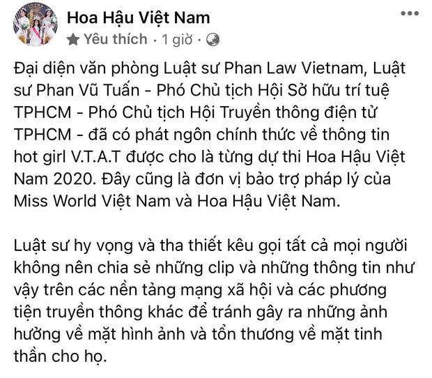 BTC Hoa hậu Việt Nam nhờ luật sư vào cuộc lên tiếng về nghi vấn cô gái nghi lộ clip sex từng tham gia cuộc thi năm 2020 - Ảnh 3.