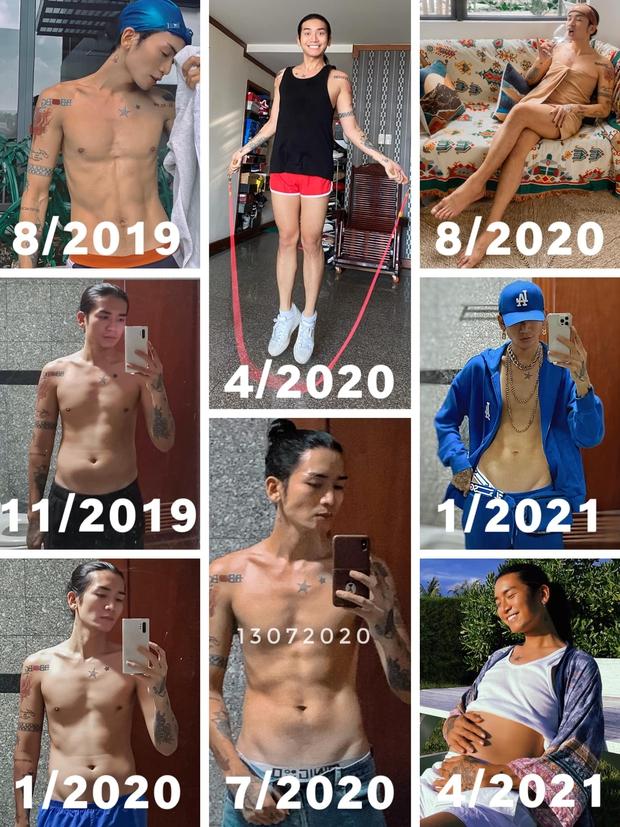 Gần 2 năm mà body BB Trần thay đổi 8 lần, số kg tăng trong 1 tháng ở cột mốc kỷ lục nghe muốn xỉu ngang - Ảnh 3.