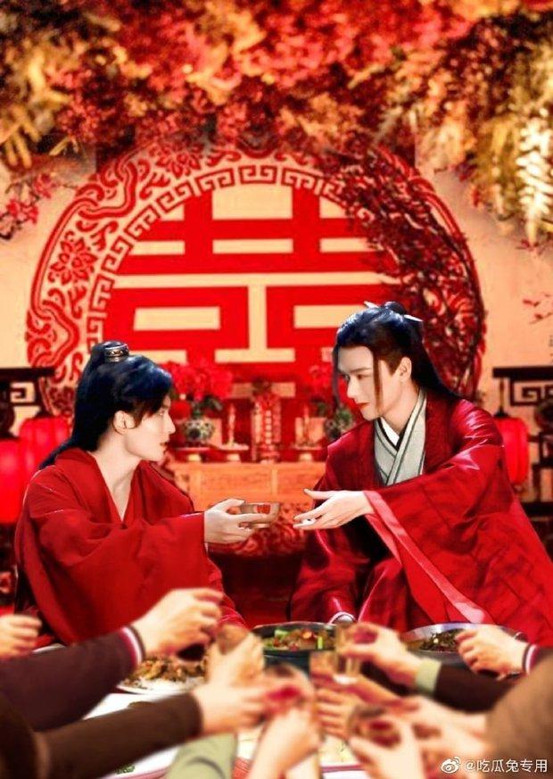 NSX dùng ảnh cưới Cung Tuấn - Trương Triết Hạn quảng bá cho concert Sơn Hà Lệnh, fan Đam mỹ 101 rần rần ném đá - Ảnh 2.
