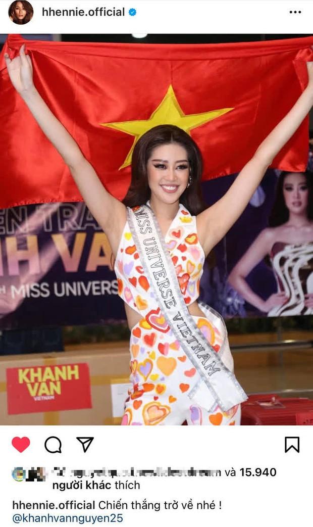 Dàn sao Việt hướng về Khánh Vân, nàng hậu đã chuyển 3 outfit và cập nhật hành trình đến Mỹ dự Miss Universe 2020 - Ảnh 8.