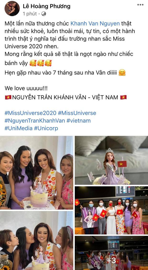 Dàn sao Việt hướng về Khánh Vân, nàng hậu đã chuyển 3 outfit và cập nhật hành trình đến Mỹ dự Miss Universe 2020 - Ảnh 9.