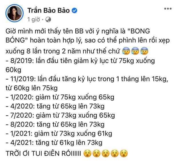 Gần 2 năm mà body BB Trần thay đổi 8 lần, số kg tăng trong 1 tháng ở cột mốc kỷ lục nghe muốn xỉu ngang - Ảnh 2.