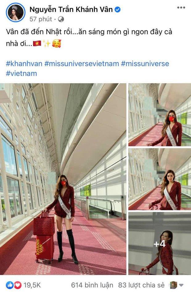 Dàn sao Việt hướng về Khánh Vân, nàng hậu đã chuyển 3 outfit và cập nhật hành trình đến Mỹ dự Miss Universe 2020 - Ảnh 2.