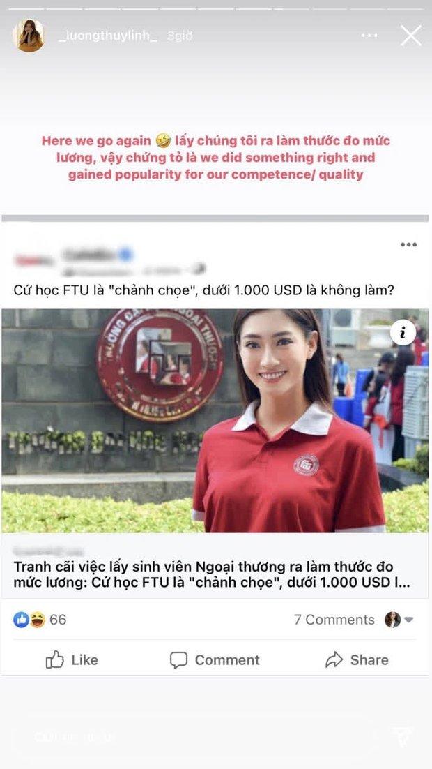 Hoa hậu Lương Thùy Linh phản pháo gay gắt ý kiến: Sinh viên Ngoại thương chảnh chọe, lương dưới 1.000 đô là không làm - Ảnh 1.