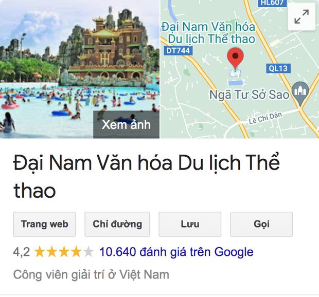 Hàng loạt đánh giá 1 sao về khu du lịch Đại Nam trên Google: Lý do thật sự là gì? - Ảnh 2.