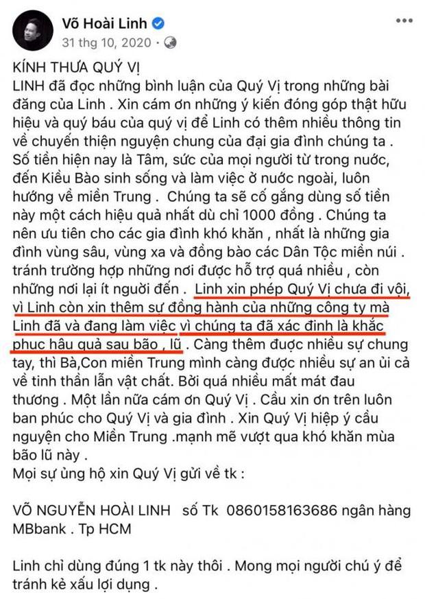 Netizen soi lại 1 điểm ở bài đăng kêu gọi nhằm minh oan cho Hoài Linh, hoá ra nam NS nói rõ mục đích từ thiện từ đầu? - Ảnh 3.