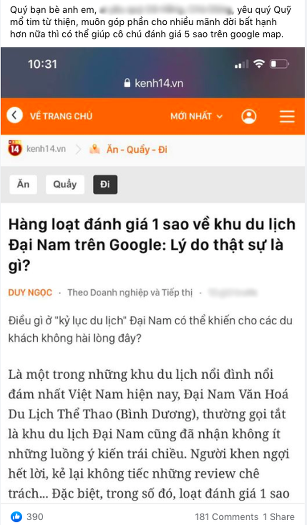 Dân mạng kêu gọi vote cho Đại Nam sau cơn bão đánh giá 1 sao trên Google, kết quả sau 1 đêm khiến ai cũng choáng - Ảnh 5.