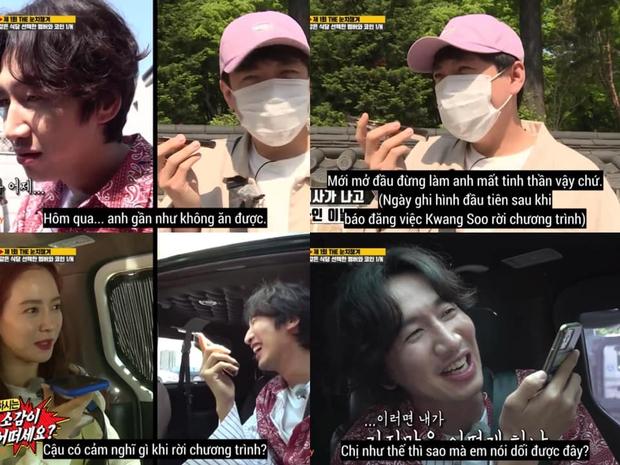 Fan xót xa khi Lee Kwang Soo thừa nhận không nuốt nổi cơm sau khi xác nhận rời Running Man - Ảnh 1.