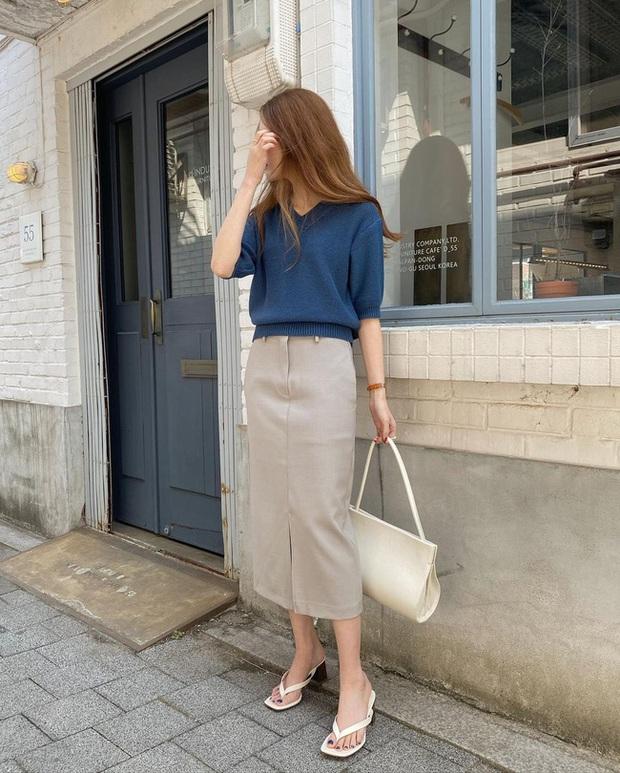 Và đây là 12 cách mix chân váy dài cực xinh của gái Hàn, đầu tuần khỏi phải lo mặc gì nhé! - Ảnh 12.