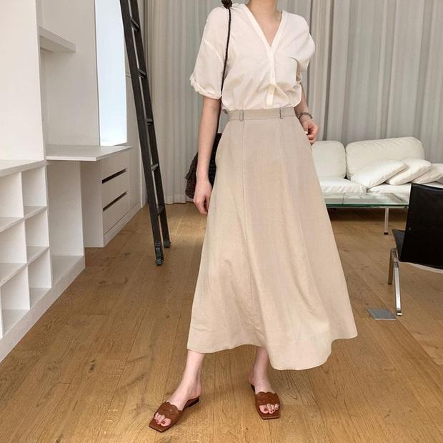 Và đây là 12 cách mix chân váy dài cực xinh của gái Hàn, đầu tuần khỏi phải lo mặc gì nhé! - Ảnh 3.