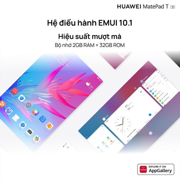Huawei ra mắt máy tính bảng MatePad T 10 tại VN: Màn hình 9.7 inch, chip Kirin 710A, pin 5100mAh, giá 3.99 triệu đồng - Ảnh 4.