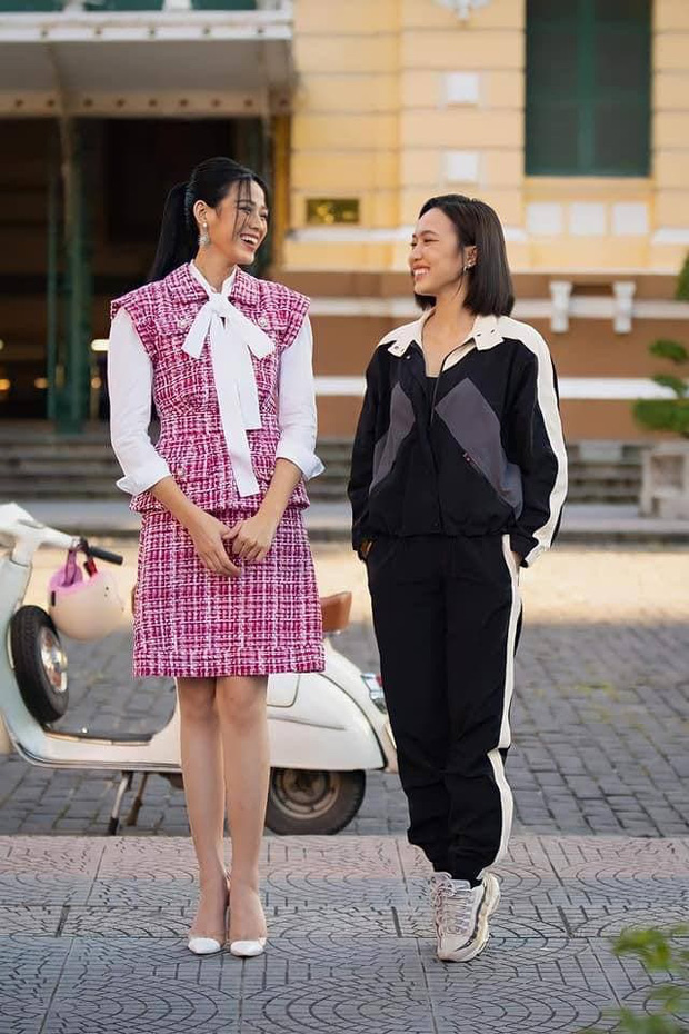Diệu Nhi sử dụng tuyệt chiêu hack dáng thần chưởng, ăn gian chiều cao khi đứng cạnh Hoa hậu Đỗ Thị Hà - Ảnh 2.