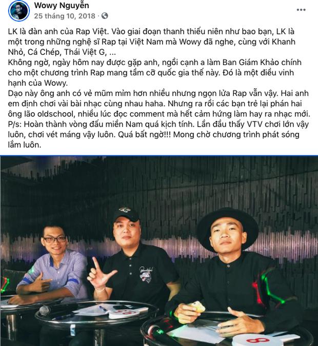Vừa khen LK ốm, Wowy đã bị netizen mỉa mai: Lại nịnh LK à? - Ảnh 3.