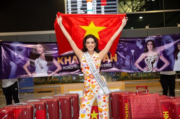 Khánh Vân đã có mặt tại Mỹ dự Miss Universe 2020: Vừa đến liền đọ sắc vóc chặt chém đối thủ, ghi điểm bằng 1 chi tiết - Ảnh 8.