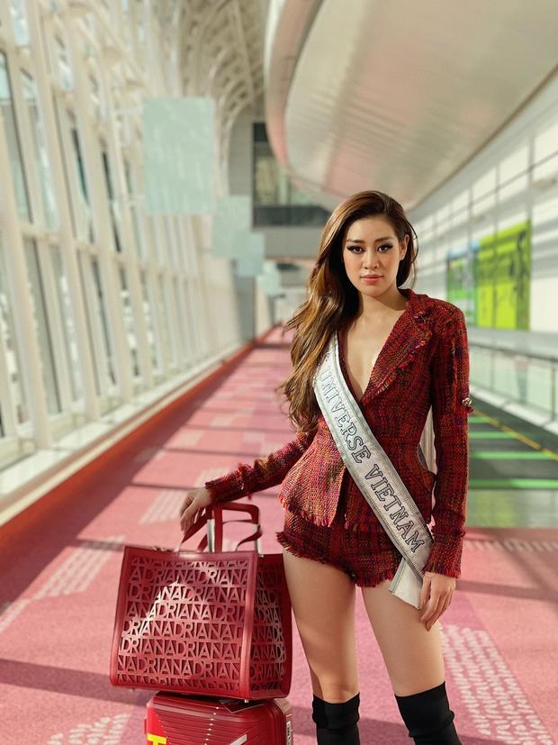 Khánh Vân đã có mặt tại Mỹ dự Miss Universe 2020: Vừa đến liền đọ sắc vóc chặt chém đối thủ, ghi điểm bằng 1 chi tiết - Ảnh 7.