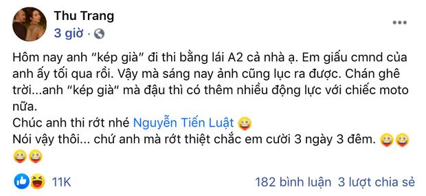 Nhọ như Tiến Luật: Đi thi bằng lái xe bị vợ Thu Trang giấu chứng minh thư, còn trù rớt sẽ cười tận 3 ngày 3 đêm - Ảnh 2.
