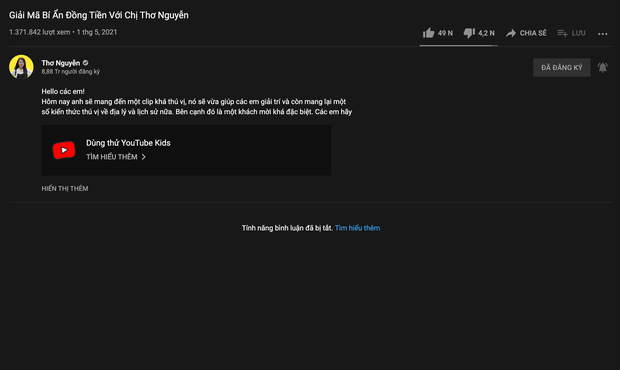 Thơ Nguyễn bất chấp dư luận, khoá tính năng bình luận trên YouTube và tung video đều như cơm bữa? - Ảnh 2.