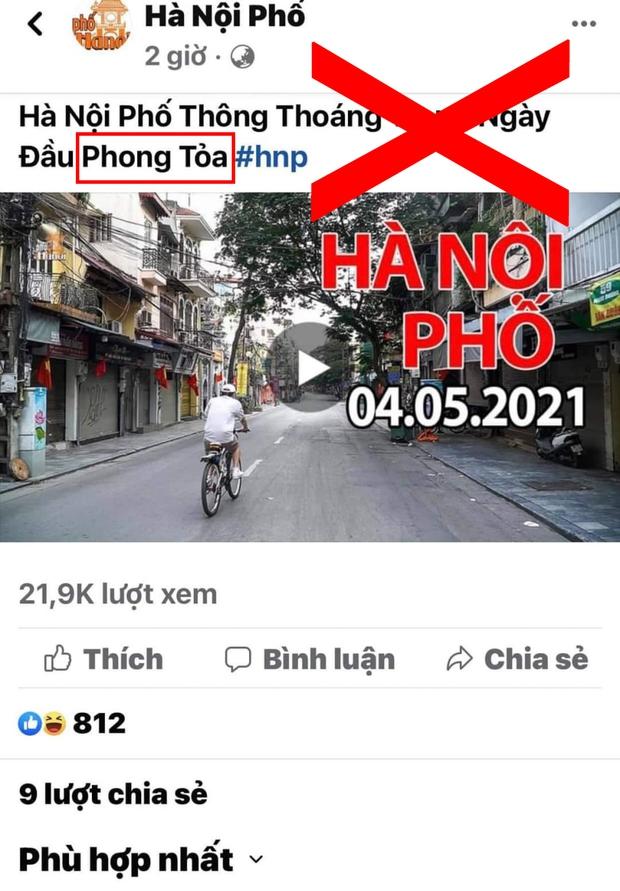 Chia sẻ thông tin Thủ đô bị phong toả ngày 4/5/2021, Duy Nến - chủ nhân kênh Hà Nội Phố bị phản đối dữ dội vì đưa nội dung sai lệch - Ảnh 2.