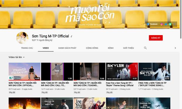 Hot: Sơn Tùng cán mốc 9 triệu subscriber YouTube, lập kỷ lục showbiz Việt - Ảnh 4.
