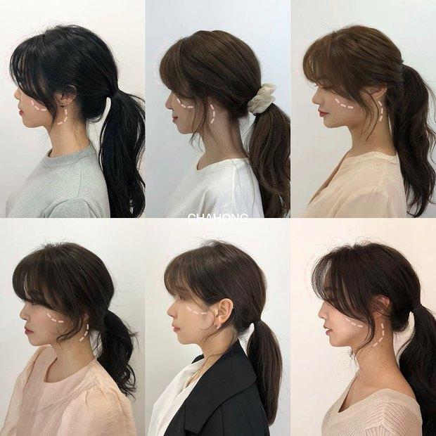 Gái Hàn có một chiêu vuốt tóc mái rất hay, buộc theo kiểu nào cũng sang như tiểu thư trâm anh - Ảnh 2.
