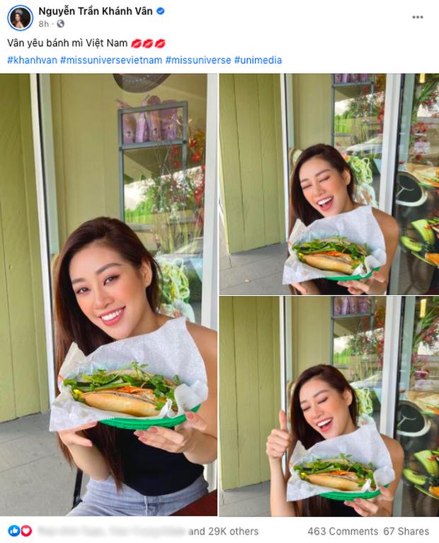 """Trước thềm Miss Universe, Hoa hậu Khánh Vân vẫn kịp thử một món Việt trên đất Mỹ, đăng hình vào """"giờ hiểm"""" khiến ai cũng thèm - Ảnh 1."""