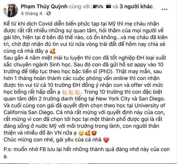 Choáng với loạt thành tích cực khủng của cháu gái Phạm Quỳnh Anh: 23 tuổi giật nhẹ 9 học bổng tiến sĩ - Ảnh 8.