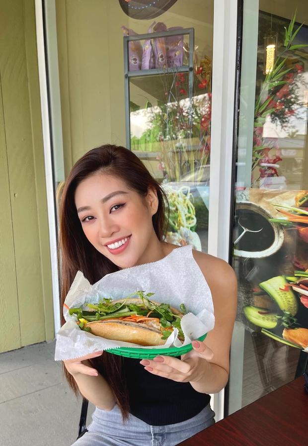"""Trước thềm Miss Universe, Hoa hậu Khánh Vân vẫn kịp thử một món Việt trên đất Mỹ, đăng hình vào """"giờ hiểm"""" khiến ai cũng thèm - Ảnh 2."""