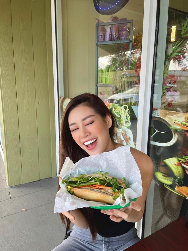"""Trước thềm Miss Universe, Hoa hậu Khánh Vân vẫn kịp thử một món Việt trên đất Mỹ, đăng hình vào """"giờ hiểm"""" khiến ai cũng thèm - Ảnh 3."""