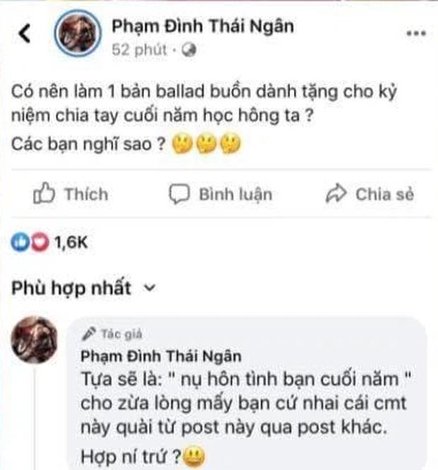 Phạm Đình Thái Ngân bức xúc khi liên tục bị netizen cà khịa về drama nụ hôn có hương vị tình bạn? - Ảnh 2.