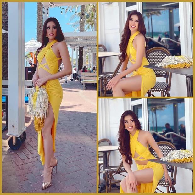 Khánh Vân chặt chém hội chị em Miss Universe bằng bộ đầm khoét xẻ tưng bừng, tụt cân thấy rõ nhưng vẫn quá rạng ngời - Ảnh 3.