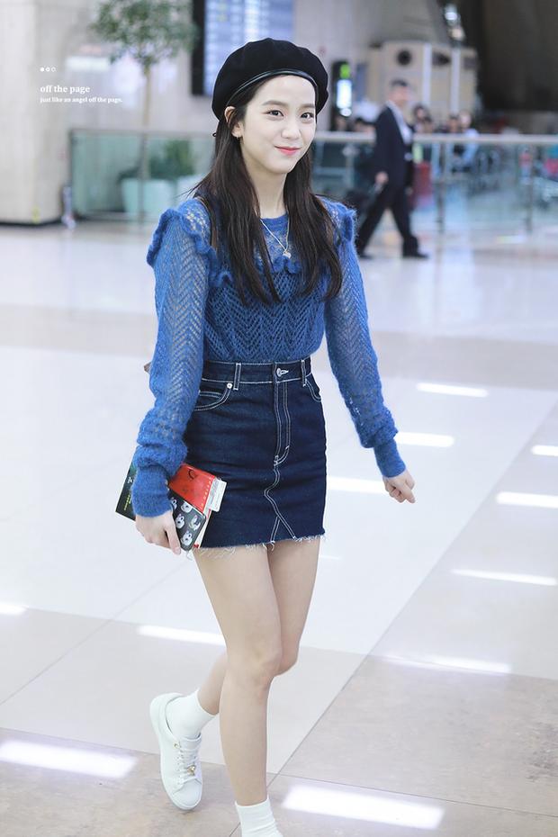 Không phải chân váy dài, đây mới là kiểu chân váy Jisoo mặc vì giúp ăn gian cả chục phân chiều cao - Ảnh 8.