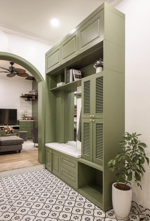 Vợ chồng mệnh Mộc xây nhà gần 2 tỷ trên mảnh đất cha ông để lại, ai cũng mê mẩn màu xanh olive phá cách - Ảnh 16.