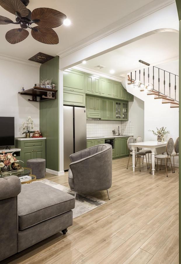 Vợ chồng mệnh Mộc xây nhà gần 2 tỷ trên mảnh đất cha ông để lại, ai cũng mê mẩn màu xanh olive phá cách - Ảnh 4.