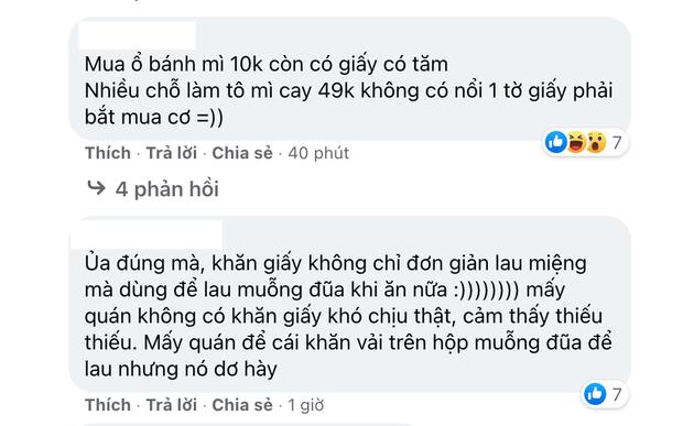 Netizen phản ứng trái chiều vì quan điểm: Quán ngon cỡ nào mà không free giấy ăn, người có tiền thì mới được lau miệng à? - Ảnh 3.