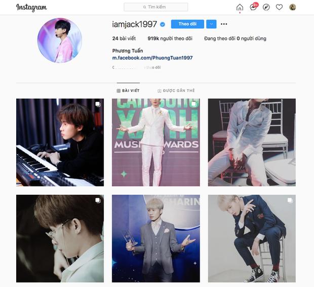Dù lập kỉ lục đạt nút Vàng YouTube nhanh nhất Việt Nam, nhưng lượng follower trên Instagram của Jack lại khiến netizen phải giật mình! - Ảnh 3.