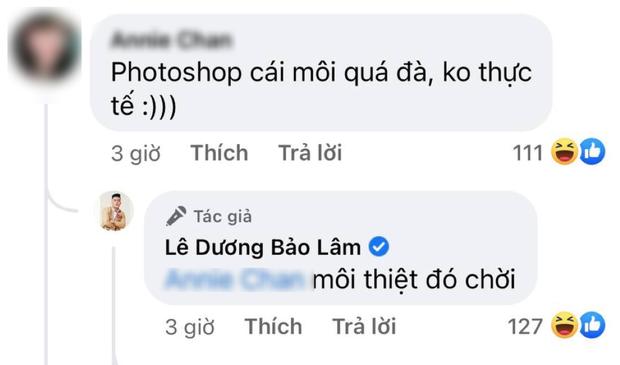 Buồn thay Lê Dương Bảo Lâm: Lâu mới đăng ảnh cool ngầu mà bị cả thế giới chê photoshop gọt môi quá đà - Ảnh 5.