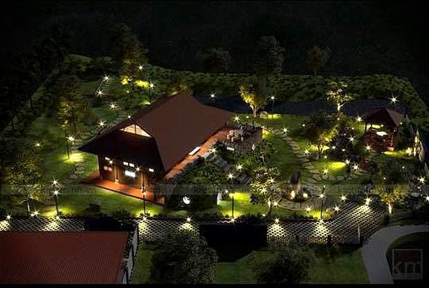 Ngắm đã mắt biệt phủ rộng lớn của Xuân Bắc: Được xây bằng gỗ tự nhiên, sang như khác sạn 5 sao, sân vườn chiếm spotlight - Ảnh 2.