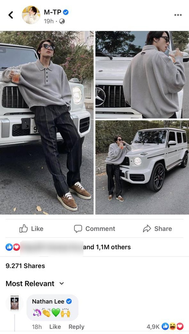 Bị netizen phát hiện bình luận dạo ảnh Sơn Tùng khoe xe chục tỷ, Nathan Lee ngượng chín mặt lên luôn Facebook thừa nhận 1 điều - Ảnh 2.