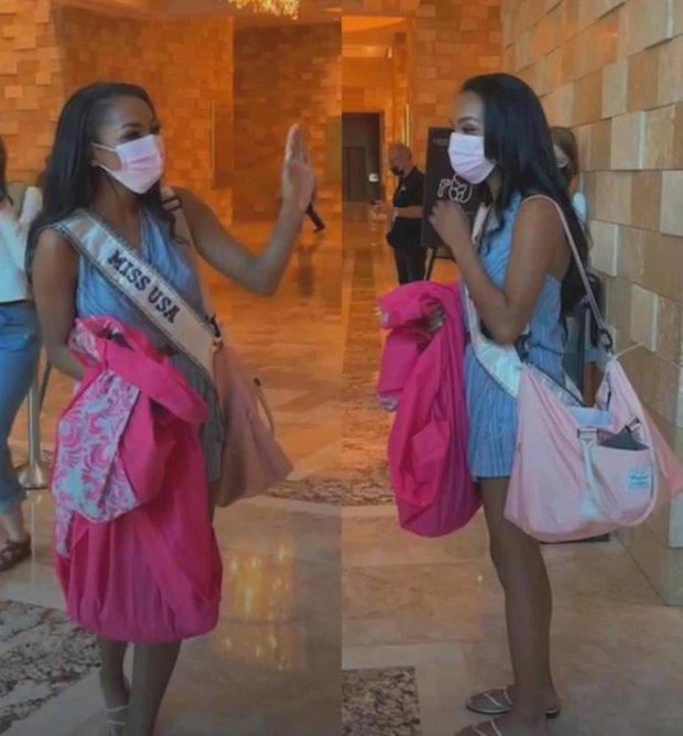 """Netizen thất vọng vì chủ nhà Mỹ tại Miss Universe đi dép bệt lộ diện kém đầu tư, Khánh Vân cùng dàn đối thủ chào sân"""" cực căng! - Ảnh 5."""