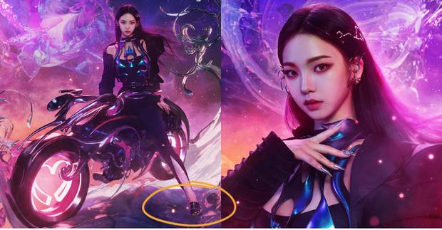 Karina mở màn teaser comeback của aespa: Visual, concept sang-xịn-mịn, nhưng sao đôi dép trông như... của bà ngoại thế này? - Ảnh 7.
